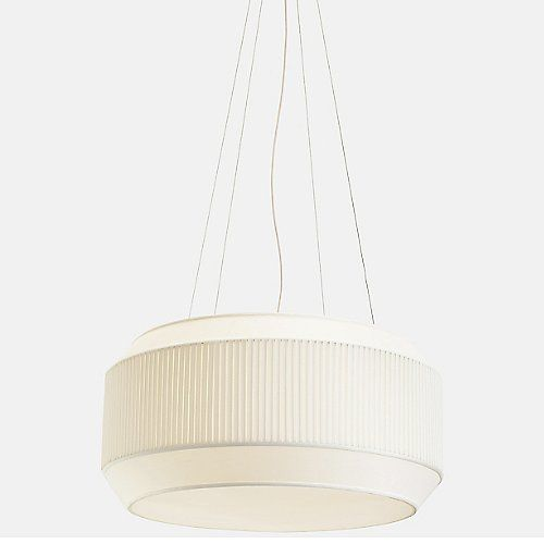 Inspired by rocket engines and astrodynamics, the Rich Brilliant Willing Delta VII Pendant is a pleated fabric shade that evokes the precision of a mechanical gear. The fluted texture, based on traditional box pleating techniques, tapers in to a voluminous octagonal shape, enhancing the rich materiality of the fabric. The robust structure creates ambient down light through the diffuser and bright up light, propelling an otherwise classic lantern shape in to a modern context.