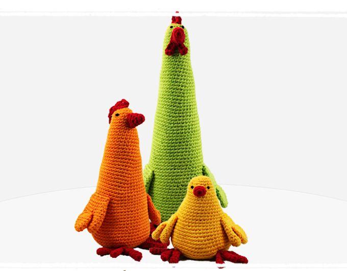 3 Chickens (paid) Crochet Pattern by Stephanie/Craftsy.com