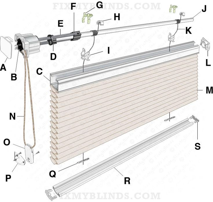 Ez Glide Cellular Honeycomb Shade Diagram Cord Loop