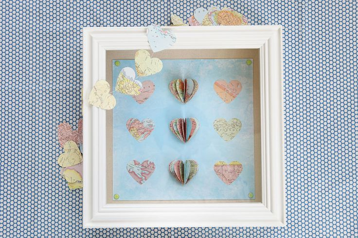 Shadowbox gift map hearts crafts pinterest of for Diy map heart frame