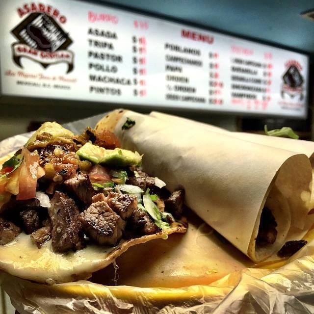 """#TacoTuesday Give your tastebuds a real treat! """"Gran"""" chunks of smoky, grilled carne asada on a thick tostada is a """"vampiro"""". Flanked by two tacos de asada in homemade flour tortillas (typical for el norte de Mexico) they were dang good! This is Asadero """"Gran Ocotlan"""" in #Mexicali Discover Baja today! www.discoverbajacalifornia.com  #GranOcotlan #Mexicali #Mex #Baja #Mexico"""