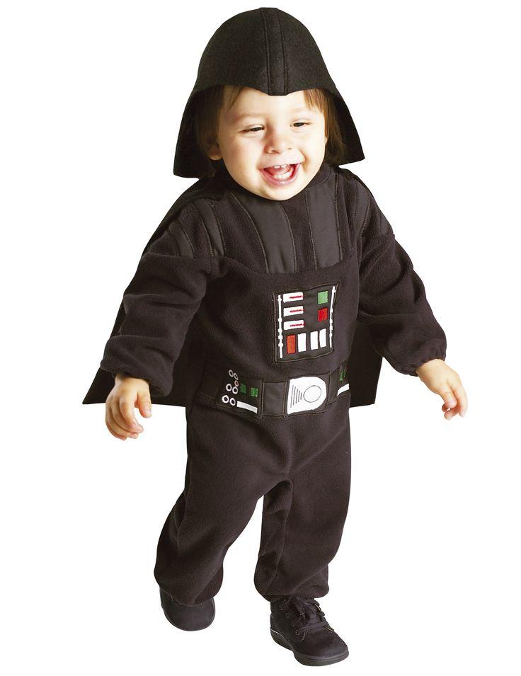 Costume Dart fener™ Star Wars™ per neonato: Questo travestimento da Dart Fener™ per bebé è un articolo in licenza ufficiale e comprende una tutina, un mantello e un casco di stoffa (scarpe non incluse).La tutina è in...