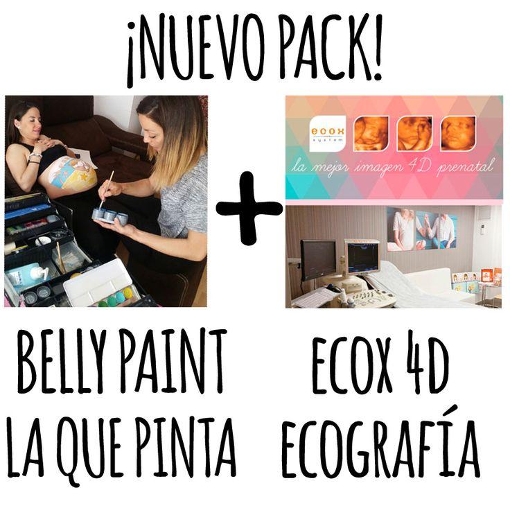 Body painting para embarazadas y sesiónd e ecografía 4d en Barcelona