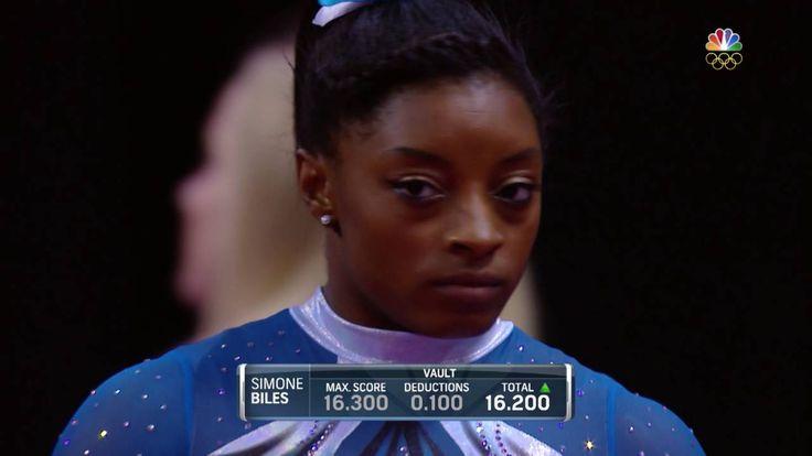 Simone Biles - Vaults 1 & 2 - 2016 P&G Gymnastics Championships - Sr. Wo...