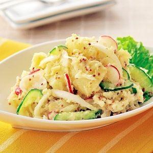 「新じゃがと新玉ねぎの粒マスタードサラダ」いつものポテサラをグレードアップ!【楽天レシピ】
