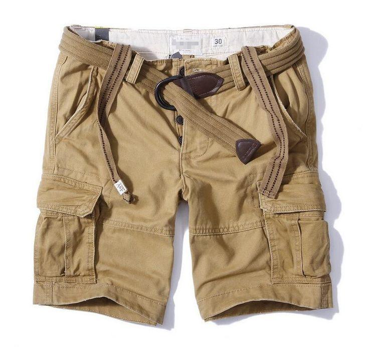 Мужчины в камуфляж грузовые шорты аф носить сделать старые оснастки мешки пять брюки Европейских и Американских шорты