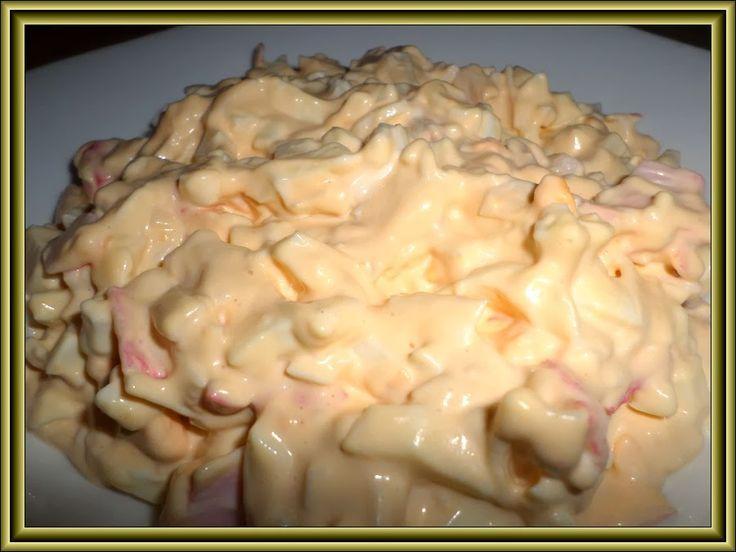 krabí salát s vejci