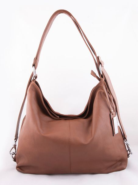 Indulge with this trendy Lulu Shoulder Bag by The Clique. Crafted with genuine brown leather, this gives you plush with a touch of practicality. A Single Zipper fastening on top goes on to reveal a luxurious suede lining, designed with a zipper compartment along with two more compartments for your cell phone and knick-knacks.