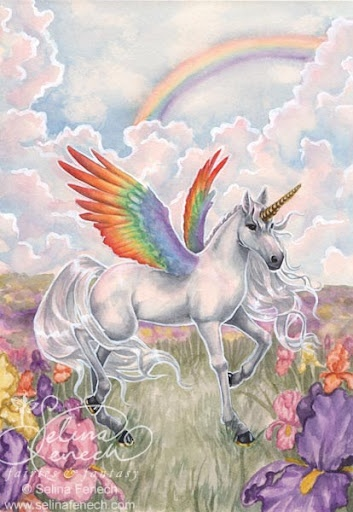 not a full unicorn  its known as a unipeg the offspring of unicorn and pegasus duh