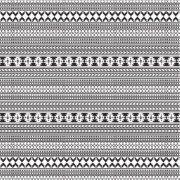 Black & White Aztec Shower Curtain