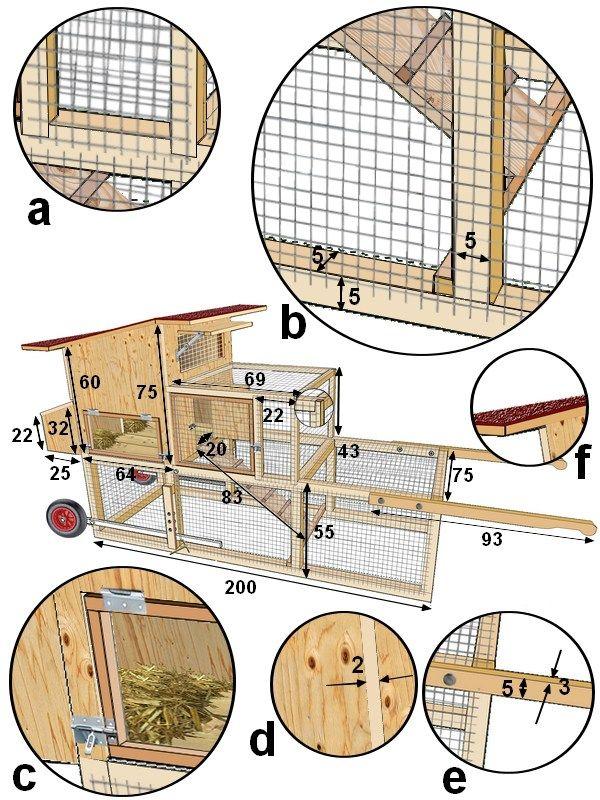 plan de montage détaillé du tracteur à poules