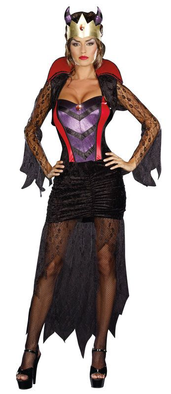 Sexy Wicked Queen Villain Costume. Be bad this Halloween.