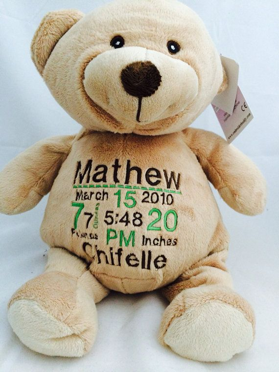 Embroider Teddy Bear Brown / Personalized Brown by Uniscrubcaps, $30.00