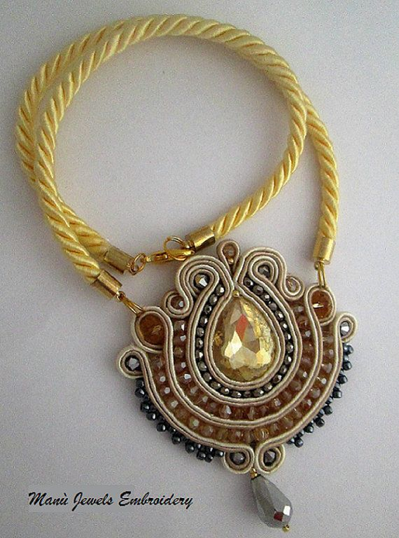 collana soutache golden