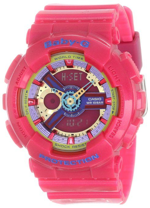 G-SHOCK Women's BA-110 Baby-G Watch One Size Maroon: Watches: Amazon.com