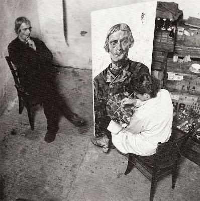 Lupineke:♥ Charley Toorop schildert een Westkappelse man