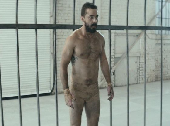 Watch Shirtless Shia LaBeouf Get Into a Weird Cage Fight During Sia's ''Elastic Heart'' Music Video