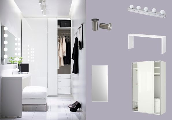 pax white wardrobe with hasvik white high gloss sliding. Black Bedroom Furniture Sets. Home Design Ideas