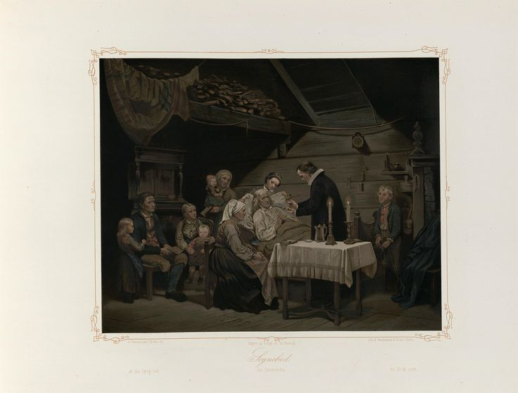 Norske Folkelivsbilleder 15 - Sognebud (Adolph Tidemand). jpg (4432×3372)