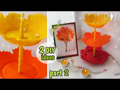 AUTUMN DIY ROOM DECOR // part 2 // DESK DECOR// ORGANIZER & PICTURE - YouTube