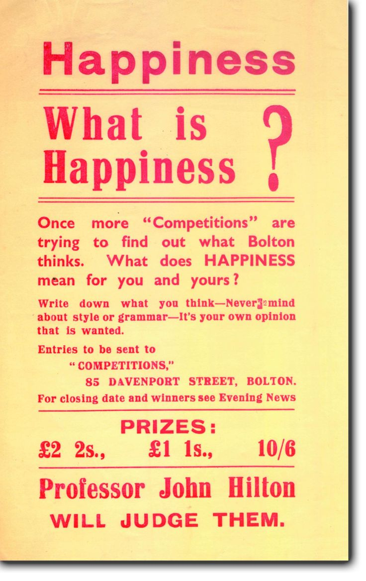 "In 1938, Mass Observation asked the people of Bolton ""What is Happiness"""