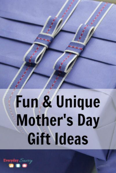 Fun & Unique Mother's Day Gift Ideas. Lots of neat things to help you appreciate mothers this year.