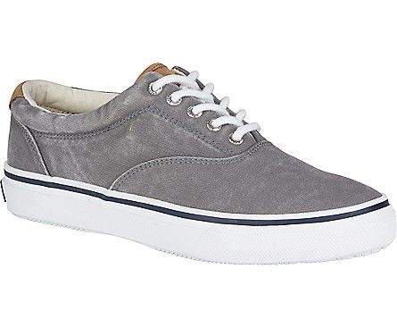 Official Sperry Site - Throw on your men's Striper CVO Salt-Washed Twill  Sneakers for a casually cool look you can sport on the shore and out at sea