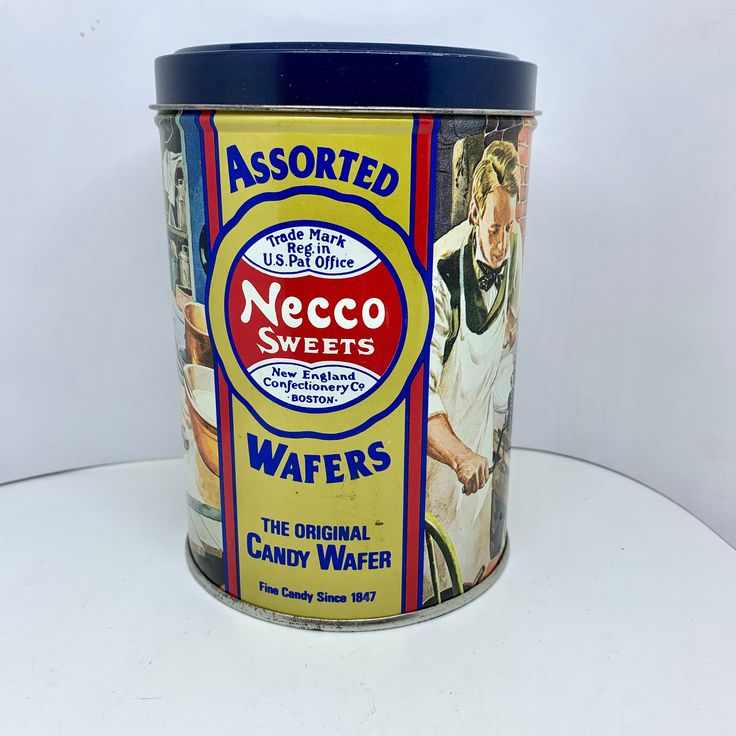 Necco Wafer Collectable Candy Tin New England