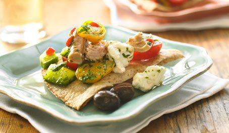 Make Life Easy with this Tuna and Cucumber Bruschetta recipe! LIKE us at https://www.facebook.com/goldseal #cannedtuna #nodraintuna #easyrecipes