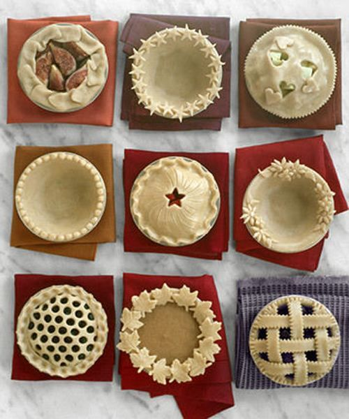 ideas for pie crusts! :0):