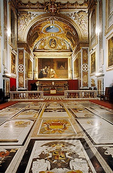St. John church vestry, Caravaggio painting. Valletta. Republic of Malta.