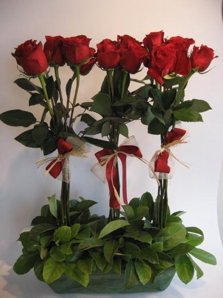 Arreglo jacqueline c digo a015 consta de rosas rojas - Arreglo de flores naturales ...