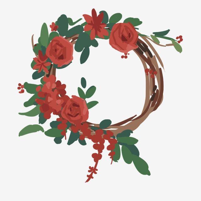 إكليل جميل حد زهور حمراء إكليل ورد أوراق خضراء انقلاب صيف زهور حمراء Png وملف Psd للتحميل مجانا Rose Garland Beautiful Roses Floral Wreath