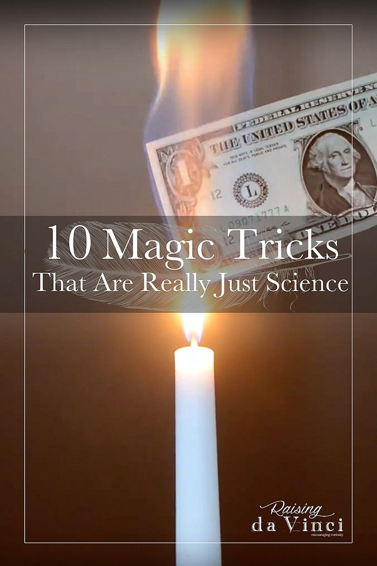 It's Science Saturday again! Amaze your children with these magic tricks, then teach them the science behind it!