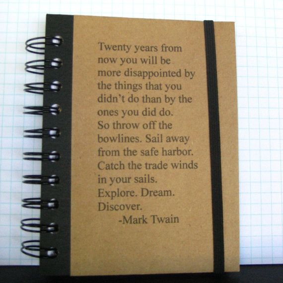 Graduation Journal Mark Twain Quote Notebook Handmade by ...