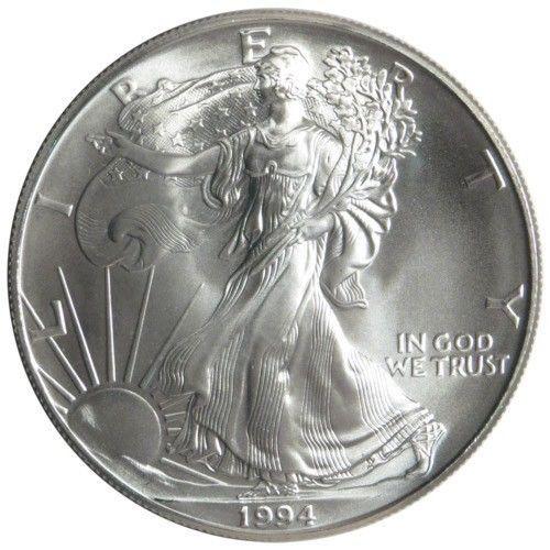 1994 $1 USD American Silver Eagle 1 oz Bullion Brilliant Uncirculated