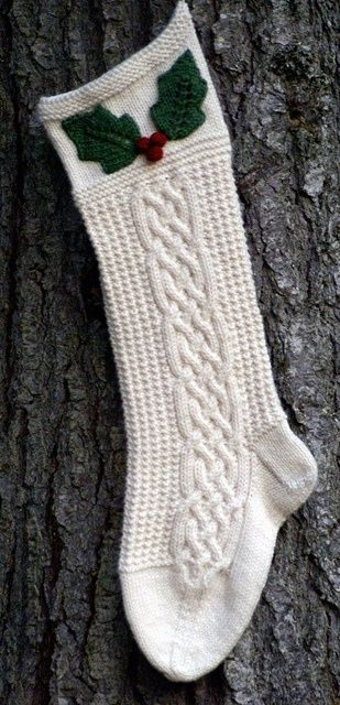 Holly Berry by JanetKaye. pattern $ 6.50 but gorgeous stocking!