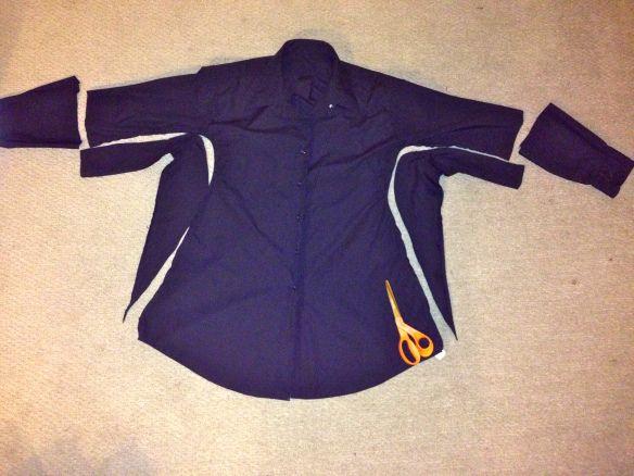 Men's Dress Shirt to Little Black Dress Refashion | Diary of a MadMama