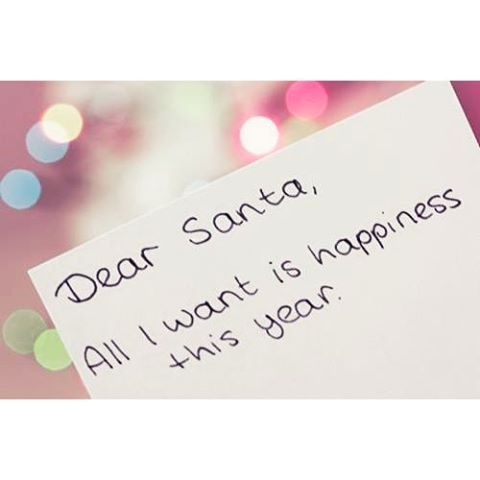 Dear Santa, All I Want Is Happiness This Year quotes quote holidays christmas christmas quotes cute christmas quotes holiday quotes christmas quotes for friends best christmas quotes beautiful christmas images with quotes christmas quotes with pictures christmas quotes for family christmas quote images christmas quote pictures