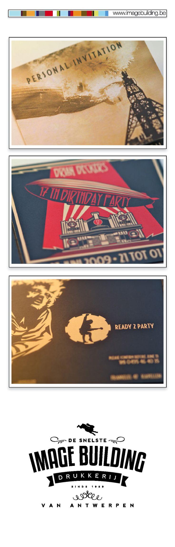 Ontwerp en druk uitnodiging privéfeest 17de verjaardag volgens thema ACDC. #imagebuildingnv #desnelstedrukkerijvanantwerpen #uitnodiging #graphicdesign #grafisch #ontwerp #opmaak #drukwerk