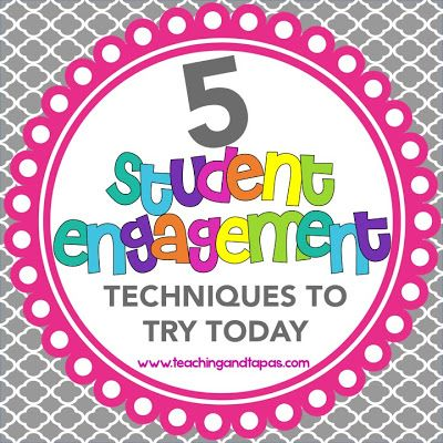 Five tips to increase student engagement in your lessons. Go to this site to read about them.  Easy to implement.