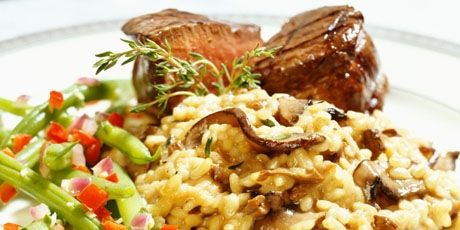 Pork Tenderloin with Cheddar Apple Risotto
