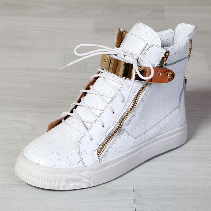 Read more White Croc London High-Top Sneakers B7e9Pf