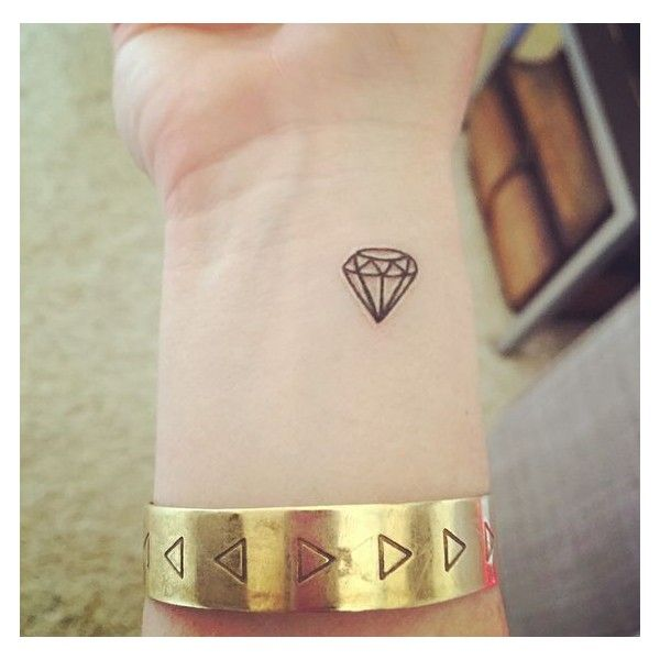 Small diamond tattoo ❤ liked on Polyvore featuring accessories and body art