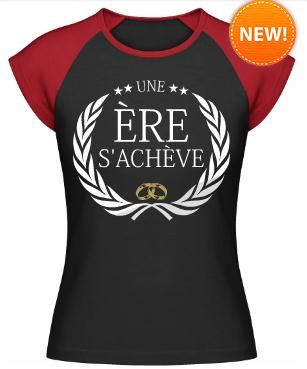 T-shirt evjf une ère s´achève #tshirt #evjf #enterrementdeviedejeunefille #bacheloretteparty #shirtinator