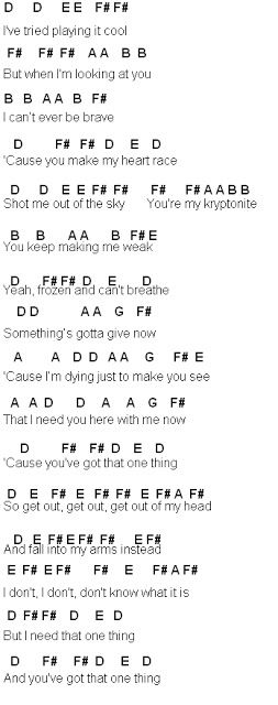 Flute Sheet Music: One Thing