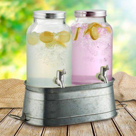 Artland Oasis Farmhouse Beverage Dispenser Set, W/Stand