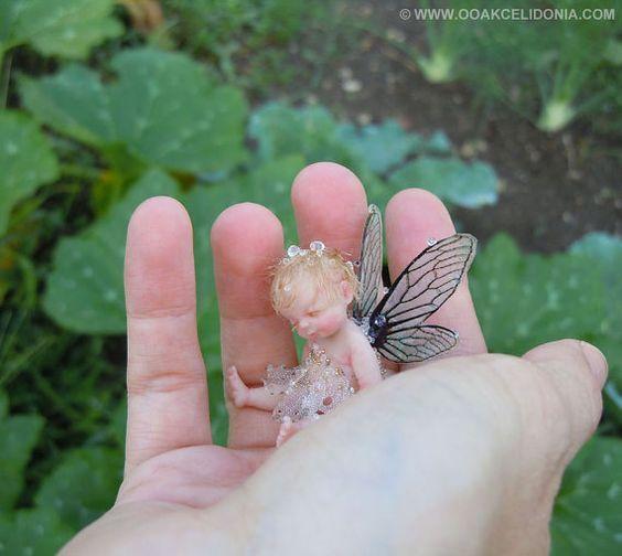 Dewdrop Fairy - OOAK Sculpture in 1/12 scale