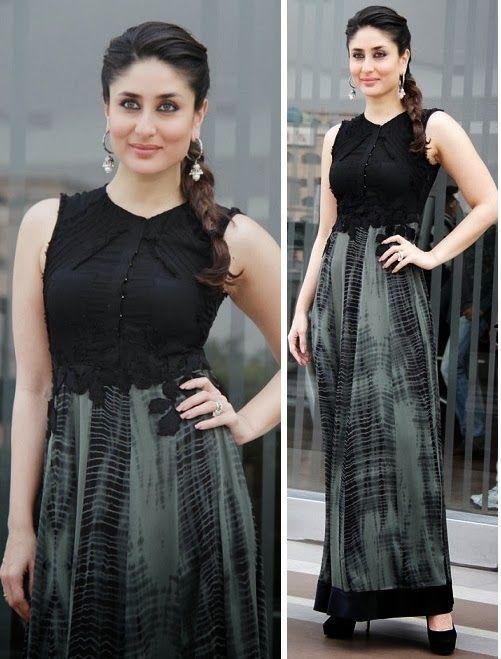 FLM Street Style Day 8: Kareena Kapoor in Printed Black Maxi Skirt