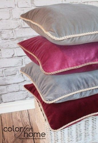 Our pillows come in many colors. Burgundy is one of them. Available at  http://sklep.colorforhome.pl/pl/p/Poduszka-Pretty-Burgundy/159 or via email team@colorforhome.pl